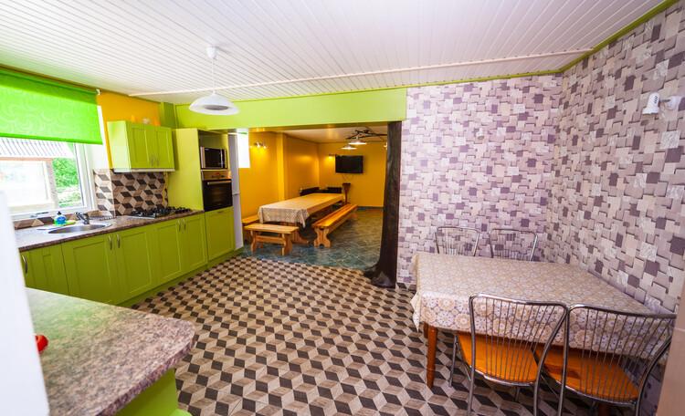 """Country Villa """"Na Opushke"""", Большой дом кухня-столовая 54 кв.м."""