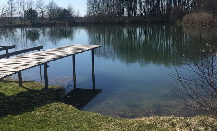 База отдыха «Без проблем», Озеро в котором вы можете выловить вкусную рыбу к столу