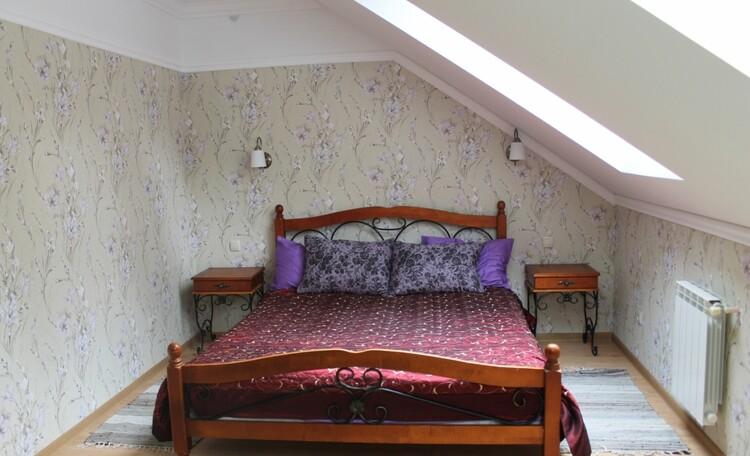База отдыха «Плещеницы», Люкс 1 с камином - спальня