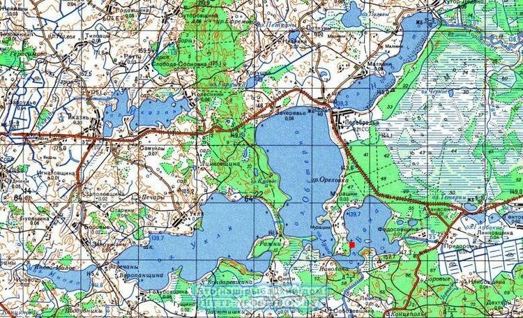 красная точка-месторасположения участка и дома