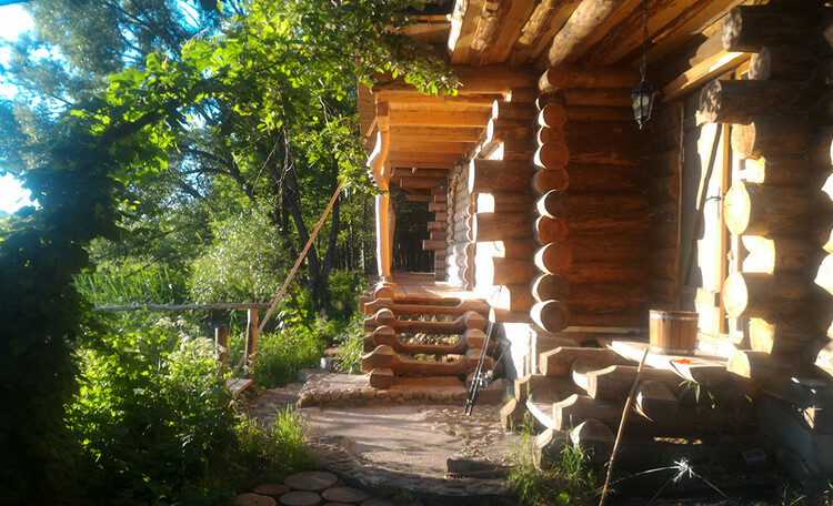 Farmstead «Wildlife island», Баня на дровах в усадьбе Заповедный остров