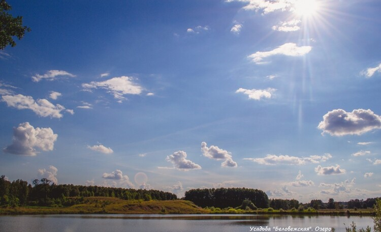 Усадьба Беловежская сказка. Озеро