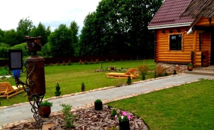 """Агроусадьба """"Белорусский Байкал"""", Зона отдыха возле бани"""