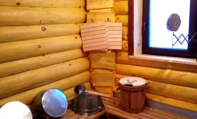 """Агроусадьба """"Белорусский Байкал"""", Помывочное отделение бани."""
