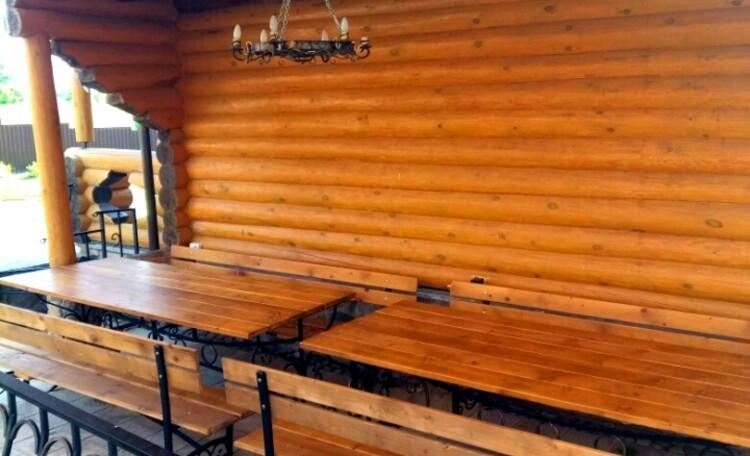 "Farmhouse ""Belorussian Baikal"", Беседка под навесом на 20 человек."