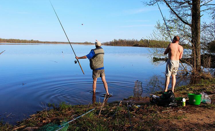 "Farmstead ""Boginskaya skazka"" (""Boginskaya tale""), Наши постояльцы на рыбалке"
