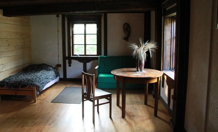 Агроусадьба «Арт-деревня Каптаруны», Дом с китайской беседкой. Спальня 4 на первом этаже. 25 м2
