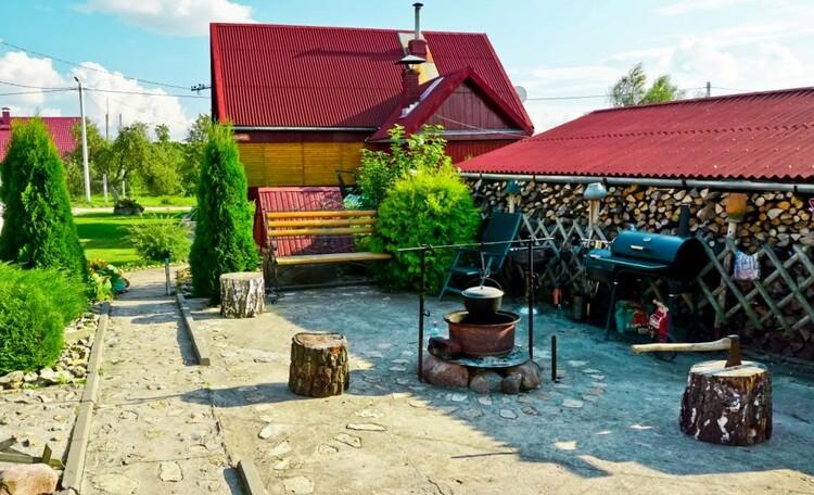 """Farmstead """"Ustie LIFE"""", Место для отдыха, ухи, шашлыков и копчения рыбы.."""