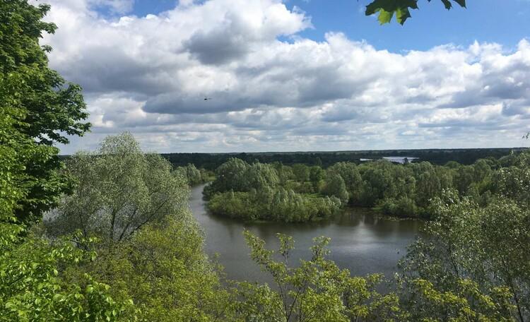 База отдыха «Сутково», Вид на пойму Днепра со стороны усадебного парка.