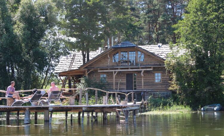 Farmstead «Wildlife island», Отдых в усадьбе «Заповедный остров» на берегу озера Шо