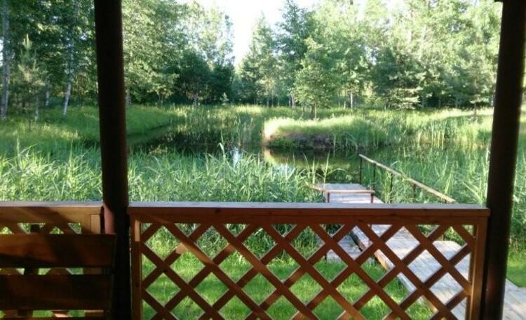Агроусадьба «Заезд Зубачи», Вид с террасы бани Заезда Зубачи