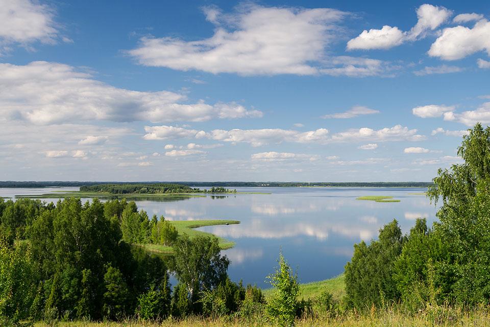 Национальный парк «Браславские озера», Озеро «Снуды» летом.