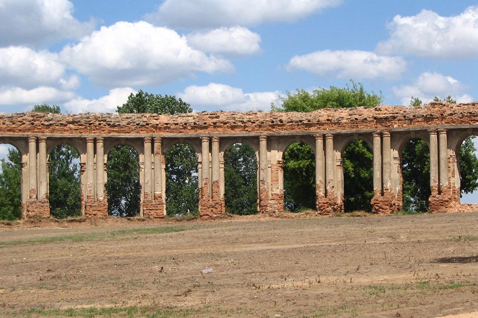 Ружанский дворцовый комплекс Сапег, Руины дворцового комплекса