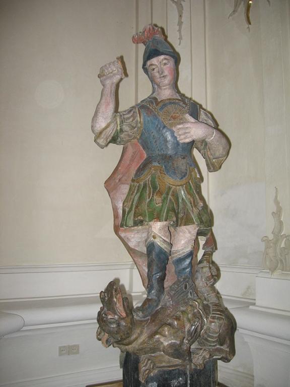 Софийский собор в Полоцке, Деревянная статуя Георгия Победоносца